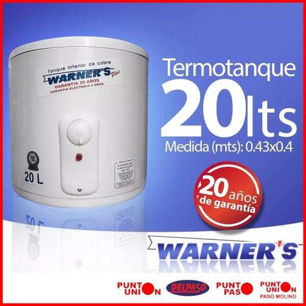 Termotanque 20 lts Warners