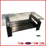 Mesa de living vidrio rectangular