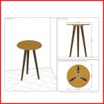 Mesa de apoyo Vintage - Brilhante