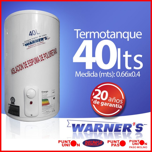 Termotanque 40 lts Warners