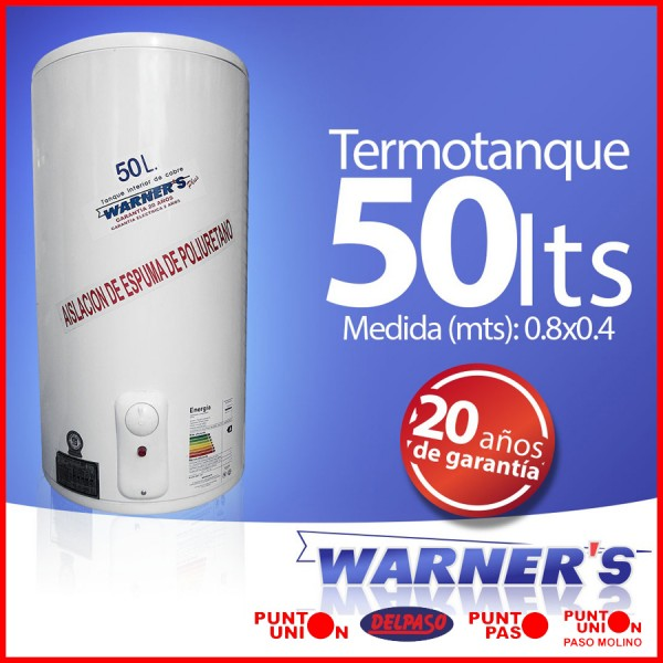 Termotanque 50 lts Warners