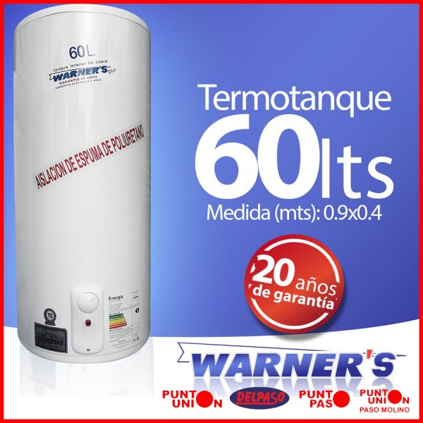 Termotanque 60 lts Warners