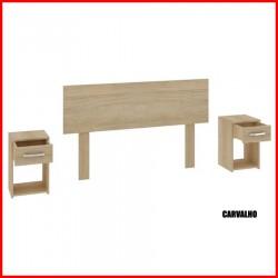 Respaldo + 2 mesas de luz - CR02