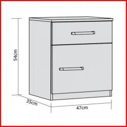 Mesa de luz cajón + puerta - 808