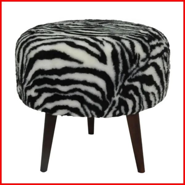 Puff tapizado Zebra - 7002