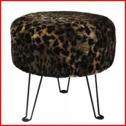 Puff tapizado Leopardo - 7003