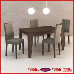 Comedor 4 sillas tapizado