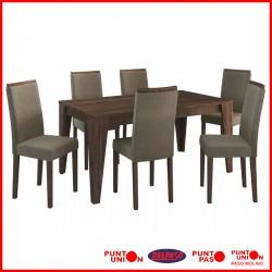 Comedor 6 sillas tapizado