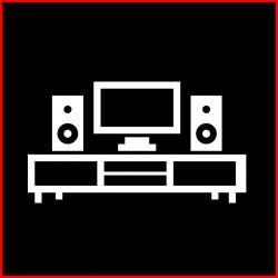 Rack para tv y audio